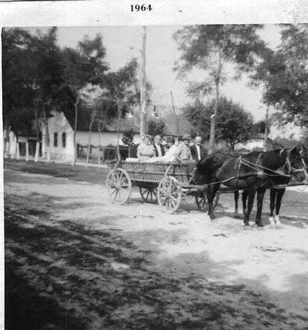 Pferdewagen vor Stempers Haus in der mittleri Gass