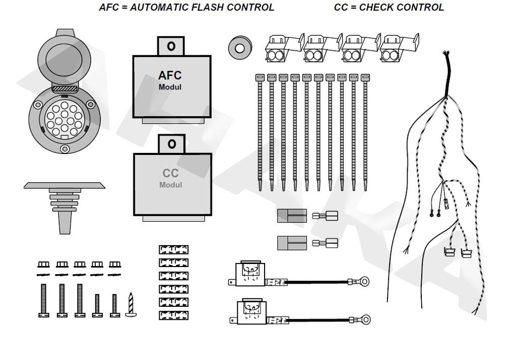 jaeger elektrosatz anh ngerkupplung 13 polig check control. Black Bedroom Furniture Sets. Home Design Ideas