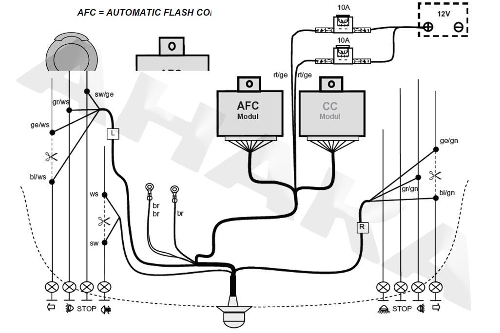 es7 elektrosatz f r anh ngerkupplung jaeger 12400001 e. Black Bedroom Furniture Sets. Home Design Ideas