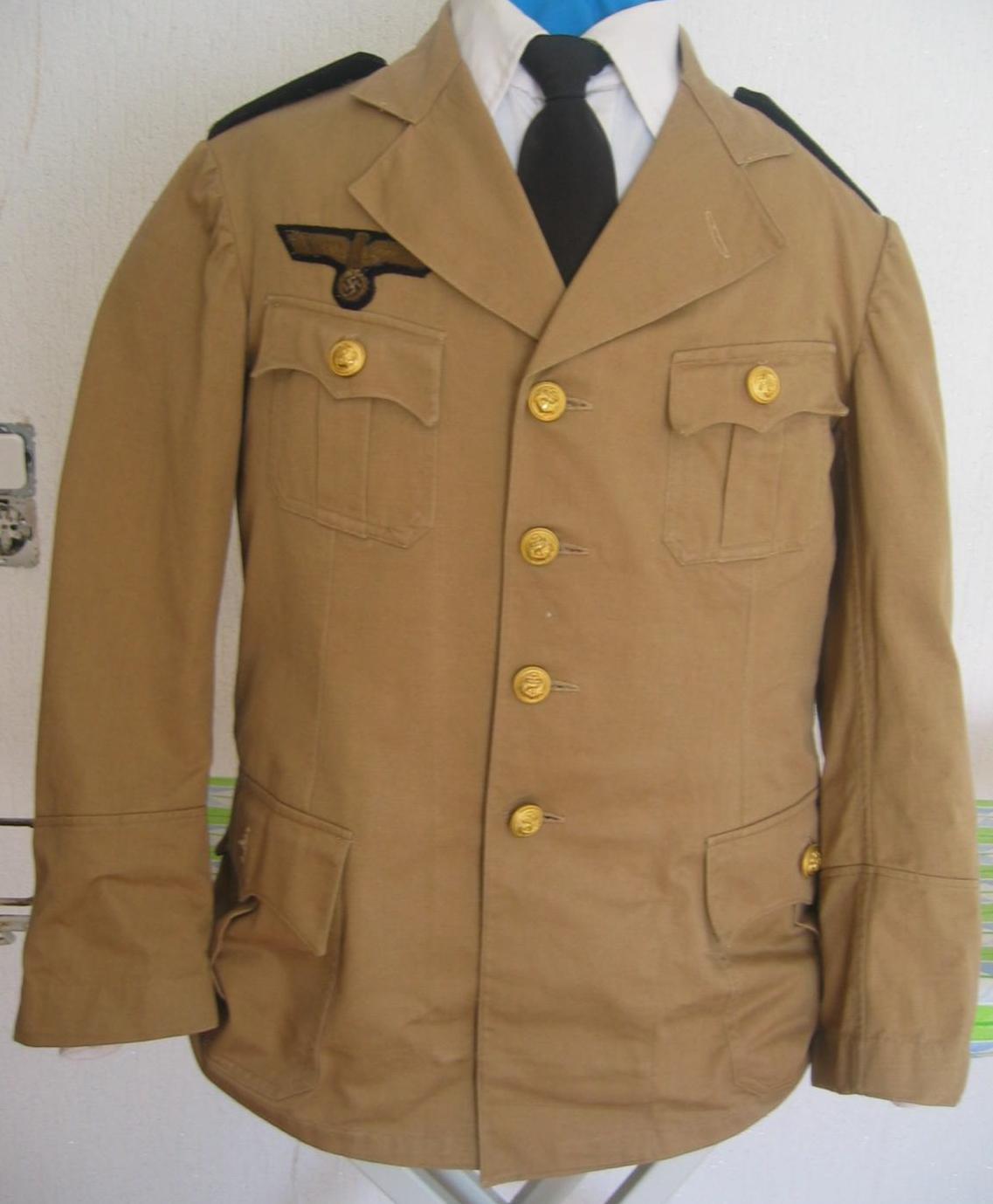 Feldbluse Aftrikakorps Wehrmacht Heer 2. Weltkrieg