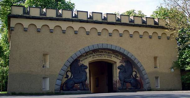 Autour de Koblenz ; fortifications, chateaux, monuments ... Loewentor