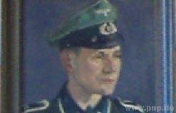 Gemälde Wehrmachtssoldat Wallerfing