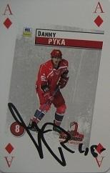 Verzamelkaarten, ruilkaarten 210 Danny Pyka Hannover Scorpions DEL 2008-09