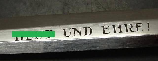 """Dolch für HJ-Führer - Klinge mit Inschrift """"Blut und Ehre !"""""""