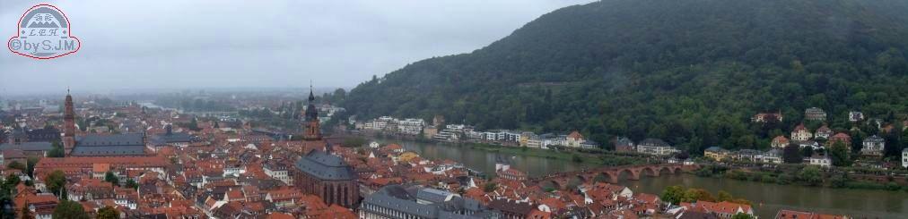 Alt-Heidelberg mit Heiligenberg am Neckar