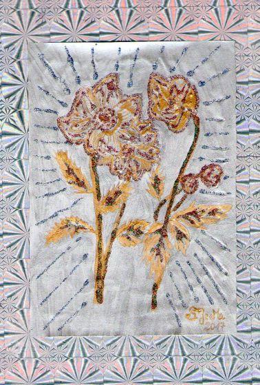 eigene Zeichnung - Blume im silbernen Licht, by S.J.M.