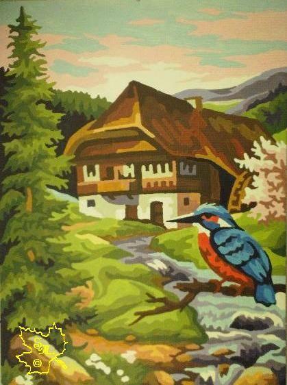 Haus mit Buntspecht by Silberglanz. de.to