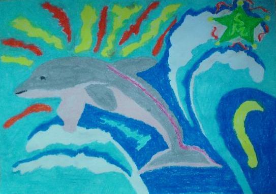 Aus der Tiefe - Delphin, Delfin, Silberglanz