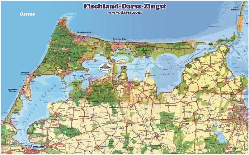 Fischland Darß Zingst Karte.Radtouren Fdz Npage De