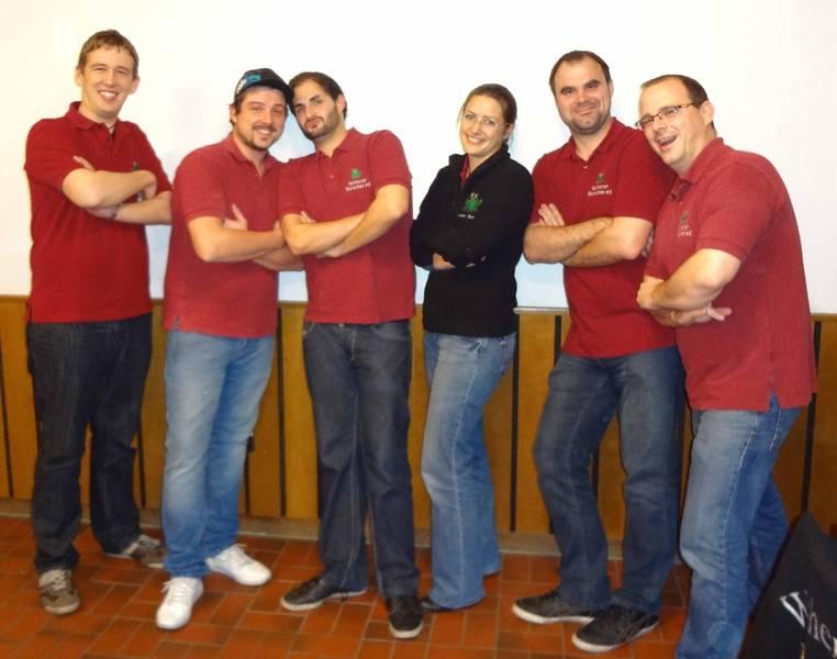 Die Vorstandschaft der Weiherer Burschen e.V. im Jahr 2012