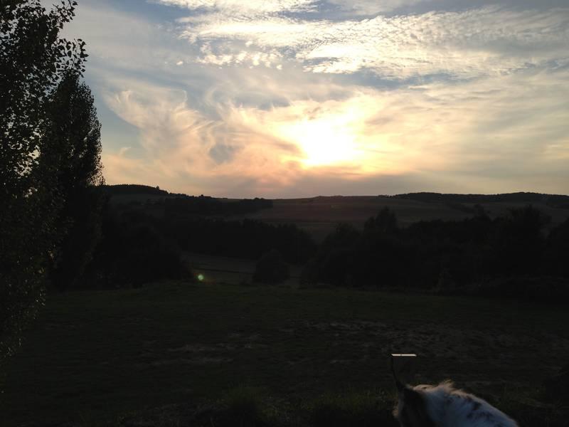 Sonnenuntergang im Thulbatal