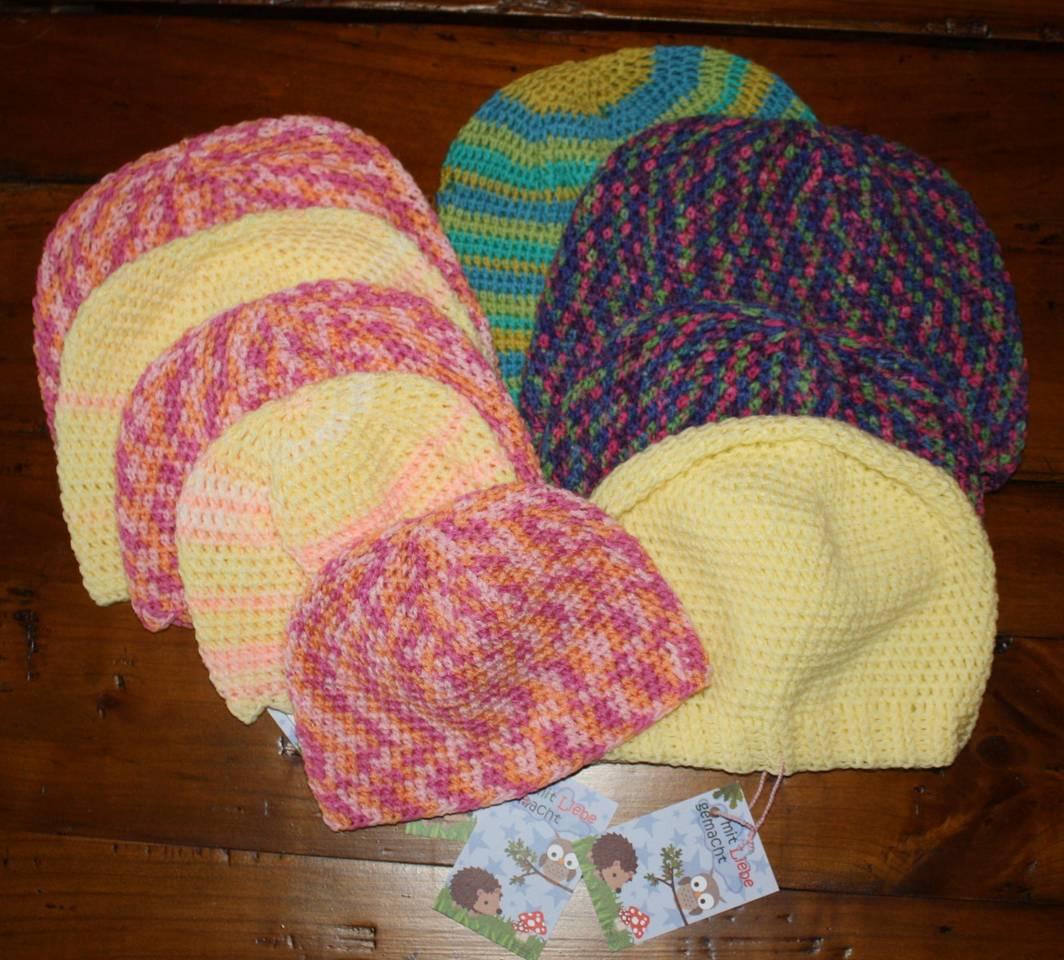 Mütze häkeln in Polyacryl oder Sockenwolle