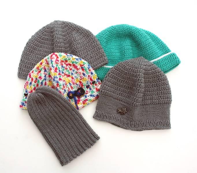 Mütze stricken oder häkeln oder stricken und häkeln