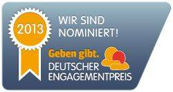 Deutscher Engagementpreis für ehrenamtliches Engagement - Nominierung