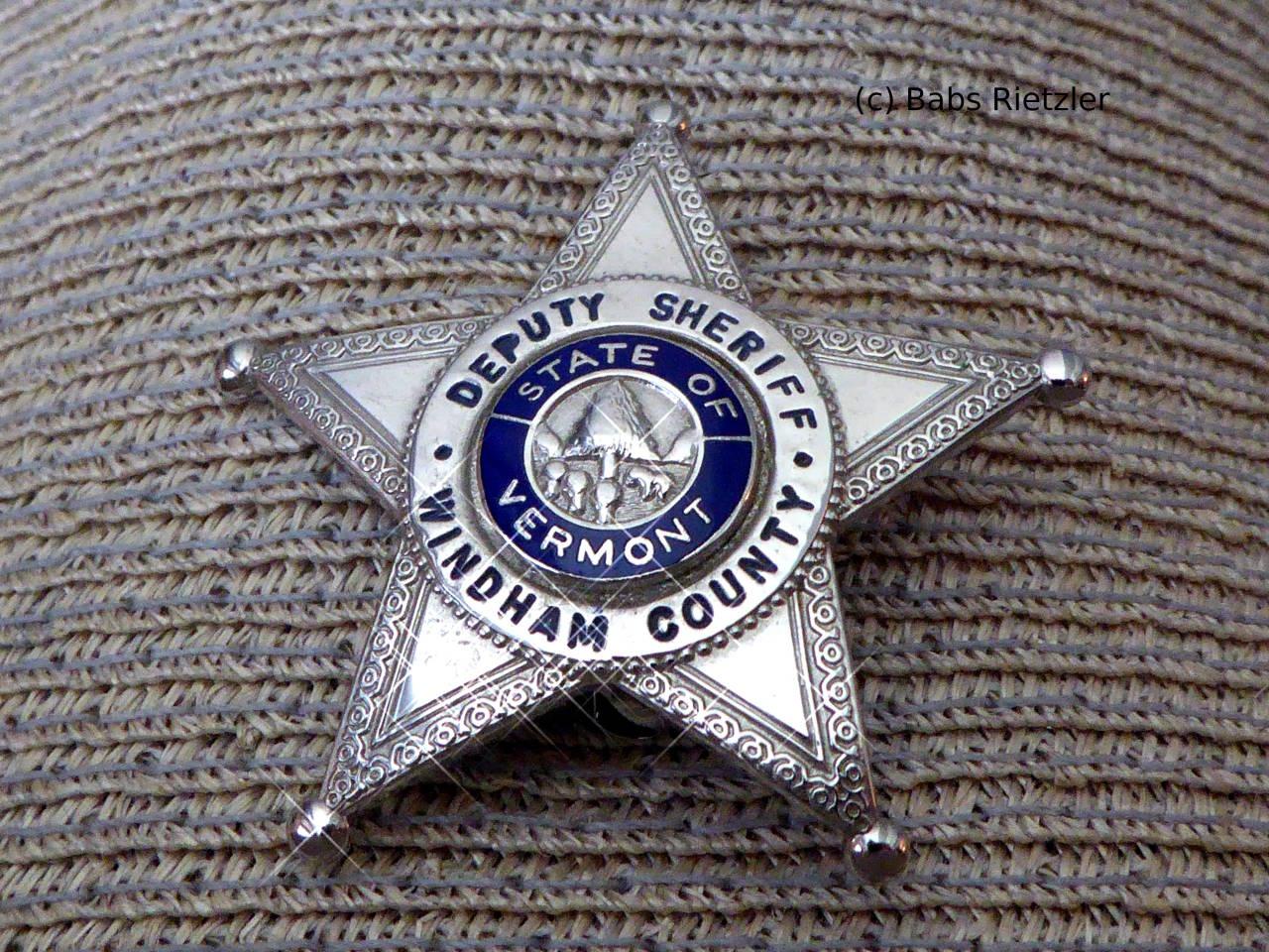 028ef23886d Windham County Deputy Sheriff hat badge (Blackington)
