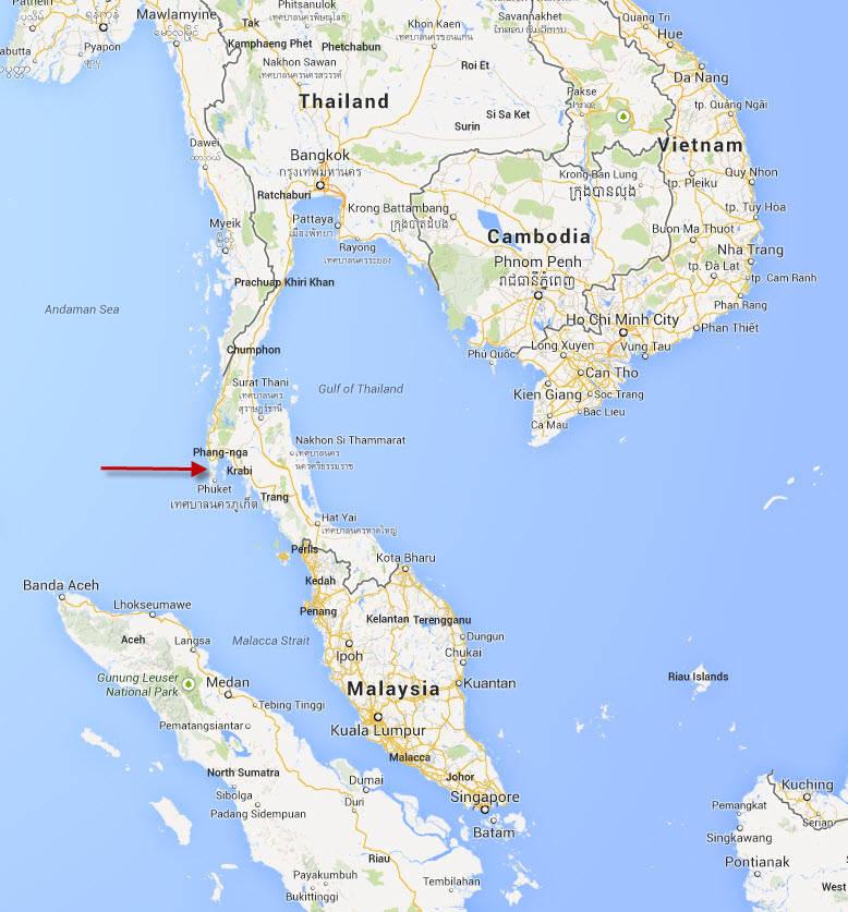 Thailand Inseln Karte.Insel Krabi Thailand Karte Hanzeontwerpfabriek