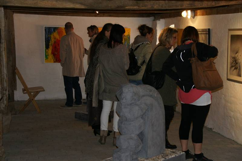 Vernissage-Besucher am 5. Mai 2013
