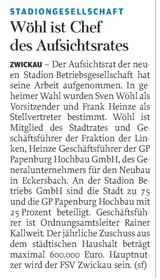 Freie Presse 27.05.2015