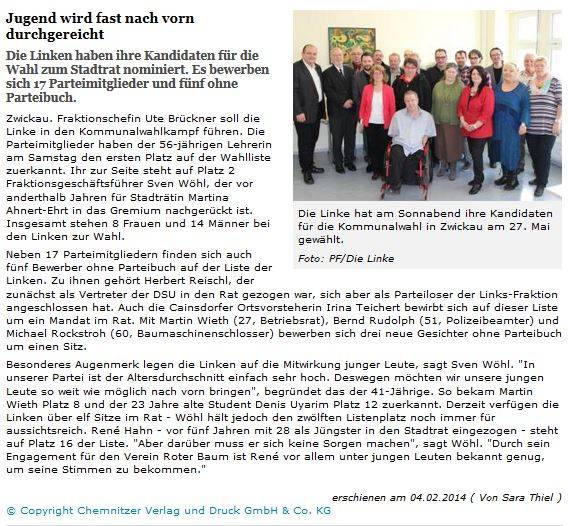Freie Presse 04.02.2014