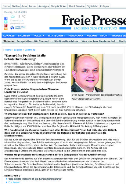 Freie Presse 28.10.2013