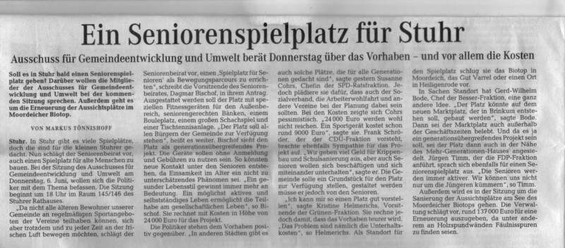 Artikel Regionale Rundschau vom 04.06.2013
