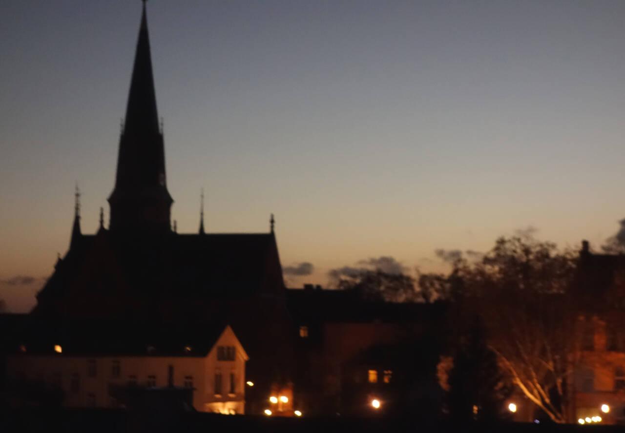 Bergkirche Wiesbaden Nachtaufnahme Schwedler