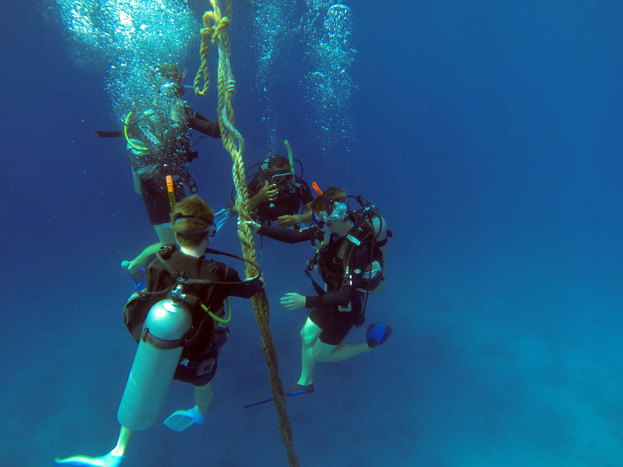 how to become a scuba diving guide