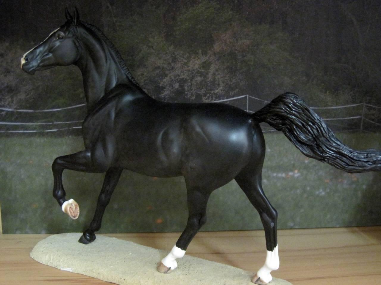 Modellpferd Replay Resin von Brigitte Eberl bemalt von Janine G. (eb-horseandtack)