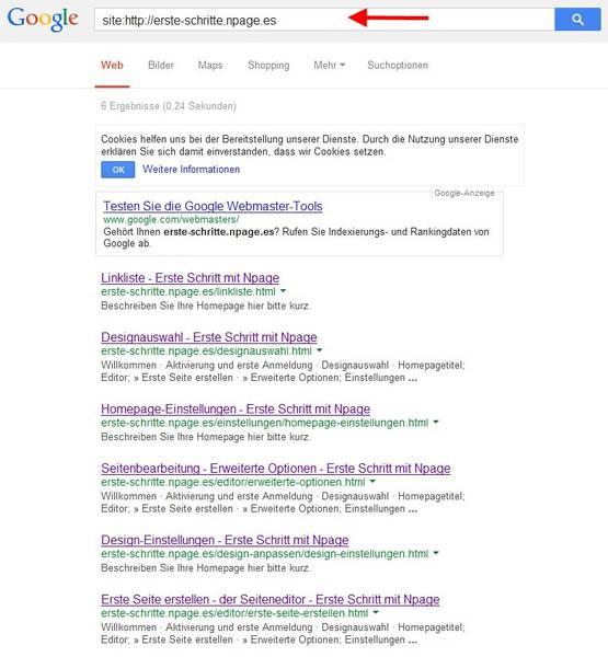 Google Site-Abfrage