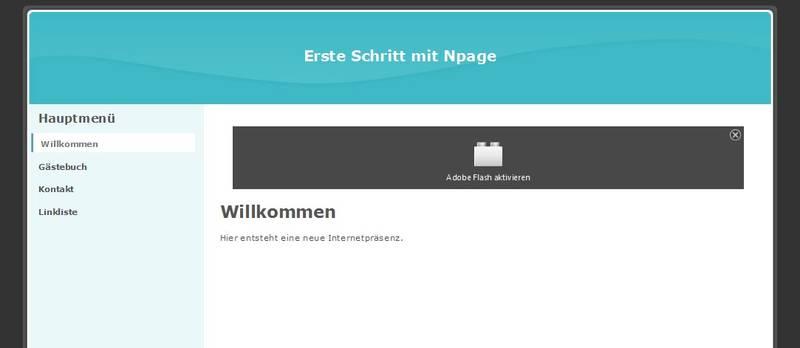 Homepagetitel auf der Webseite