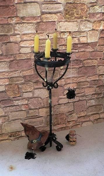 Kerzenständer für das Hexenhaus