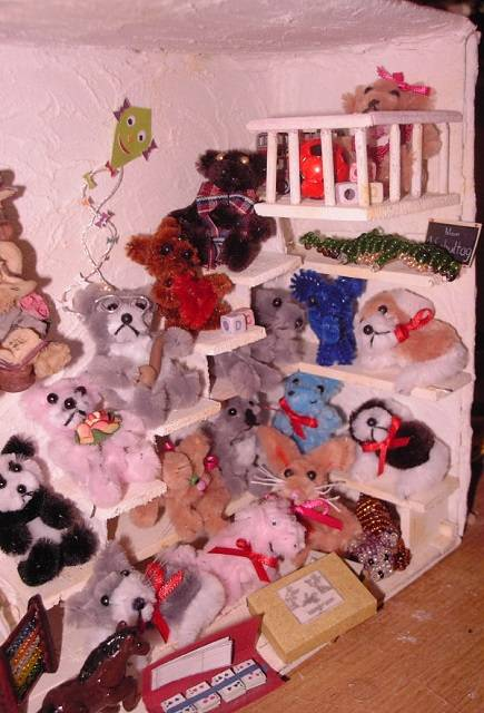 Plüschtiere für das Puppenhaus