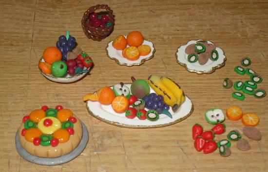 Obst Miniaturen für die Puppenküche