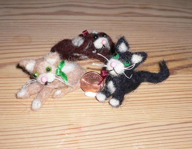 Miniatur-Tiere aus Filz