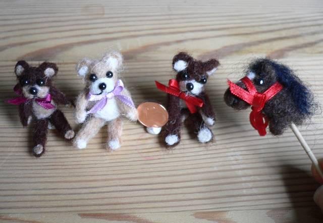 Teddys und Steckenpferd aus Filz