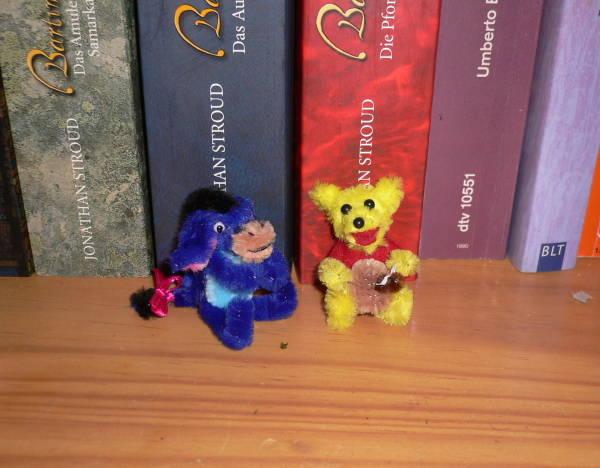 Winnie Pooh und Esel aus Pfeifenputzer