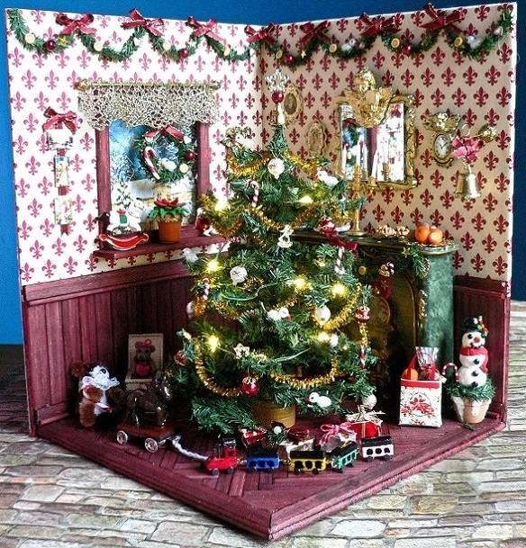 Weihnachten im Puppenhaus 1:12