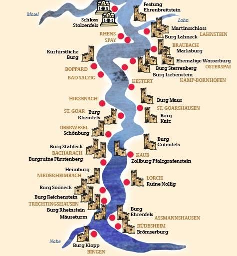 Mittelrheintal Karte.Dorf Burgerbus Wipperfurth
