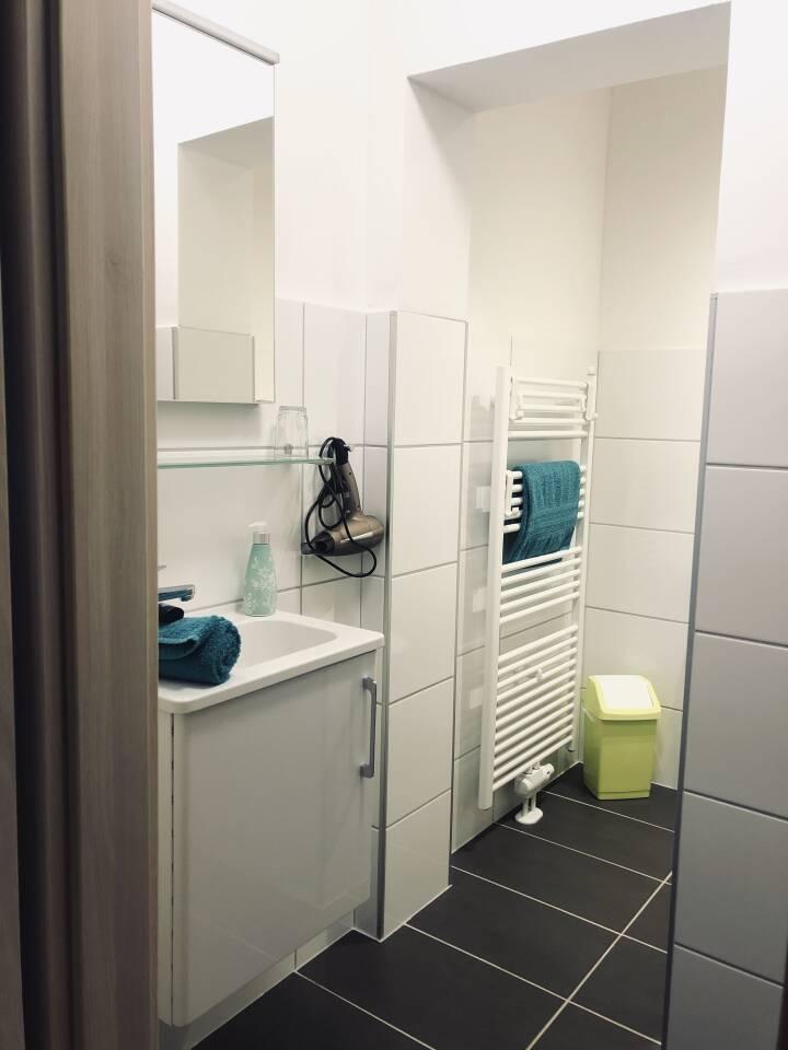 Badezimmer in Ihrer Ferienwohnung in Rahden