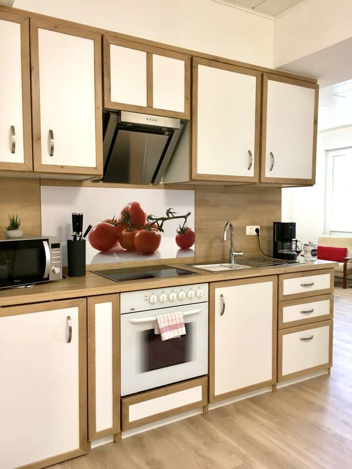 Ferienwohnung Nr. 3 Küche mit Wohnzimmer in der Unterkunft