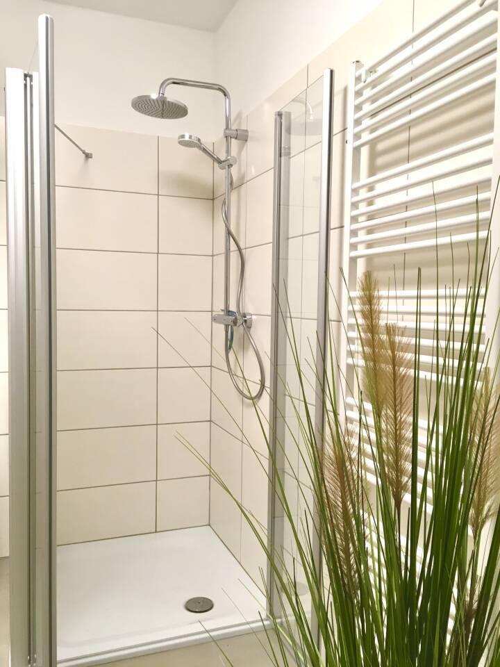 Große Regen Dusche mit zweitem Duschkopf im Badezimmer