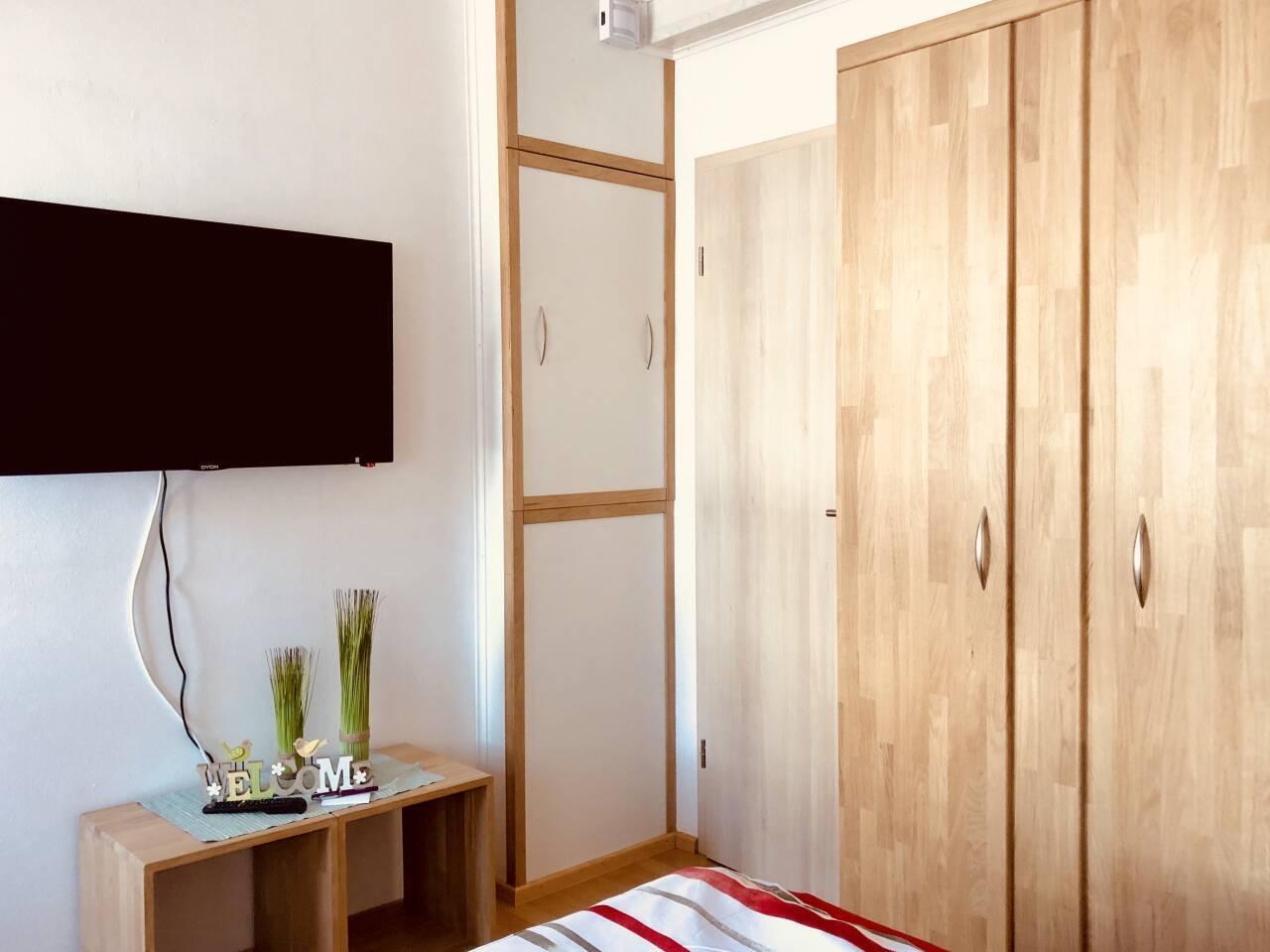 Einrichtungs Detail TV Flachbildschirm, Schrank