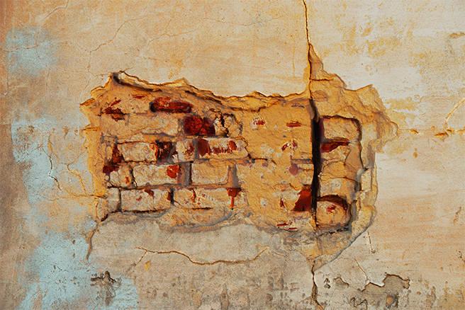 Alte Mauer einer Festung