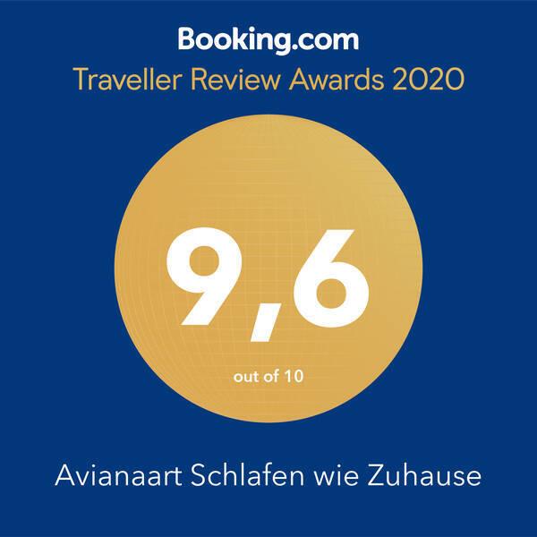 Traveller Review Award 2020 Auszeichnung der meiner Unterkünfte durch booking