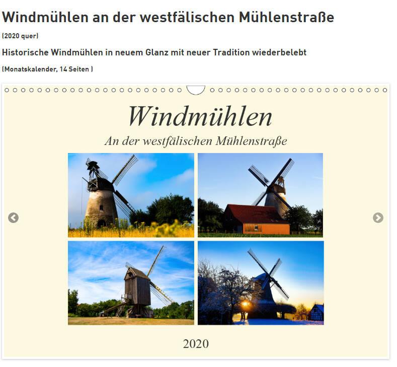 Windmühlen, Architektur aus vergangener Zeit, an der westfälischen Mühlenstraße