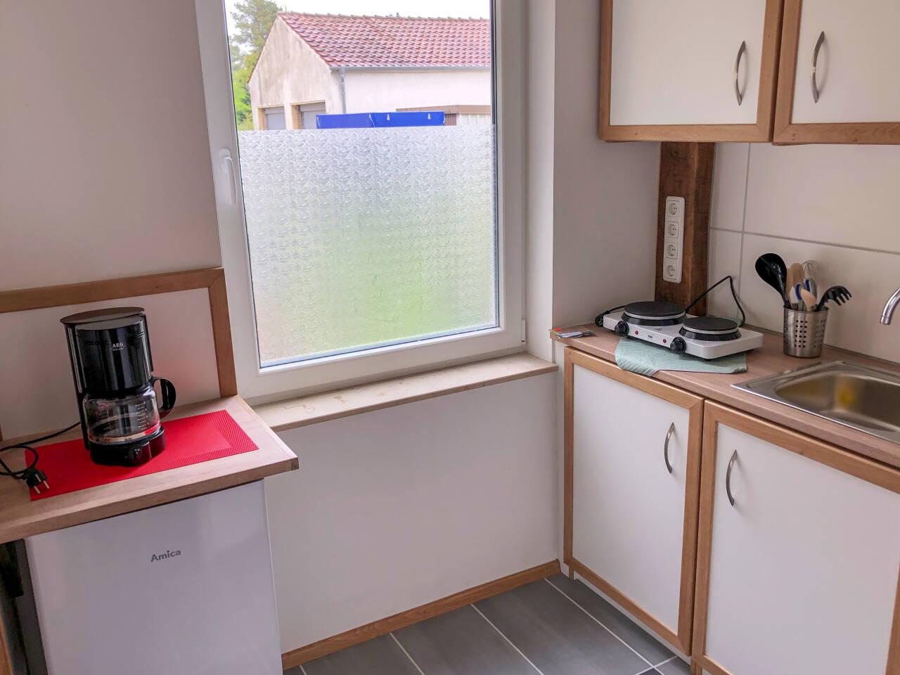 Küche Ansicht Monteurs und Ferienzimmer im Zentrum der Stadt Rahden