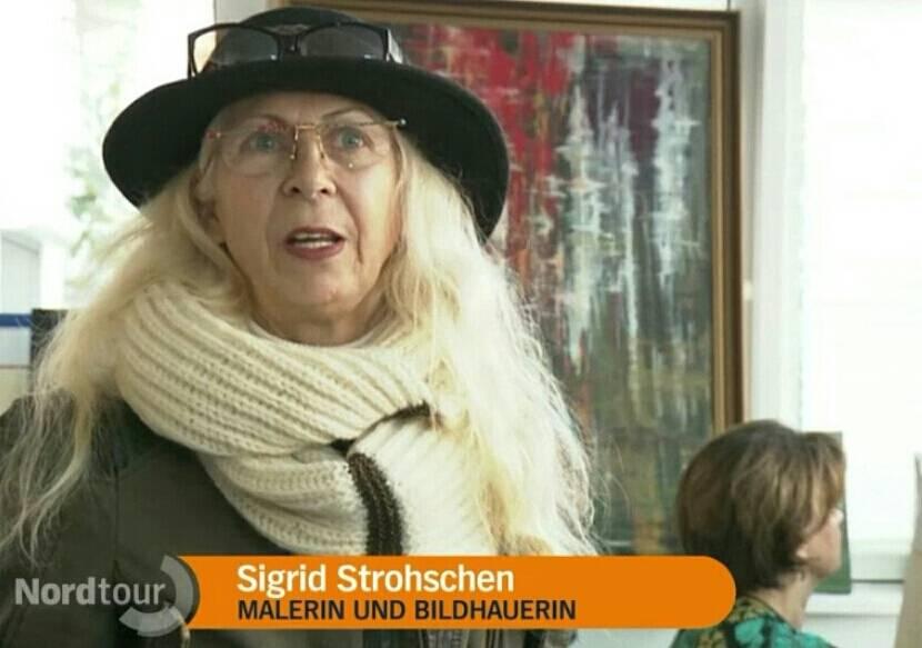 Fernsehen tv Ndr Sigrid Strohschen Atelier nordtour warnemünde Pinsel-Führerschein