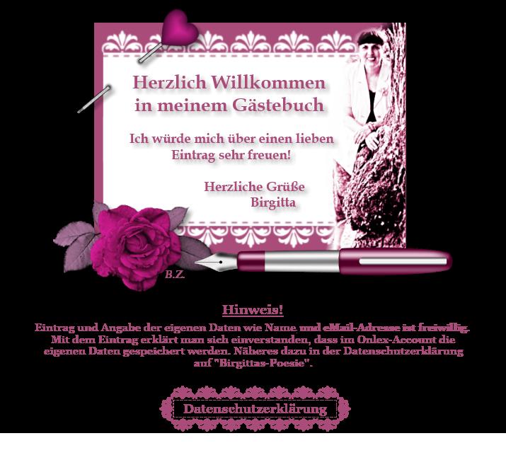 Gästebuch Banner - verlinkt mit https://www.birgittas-poesie.de/datenschutz/