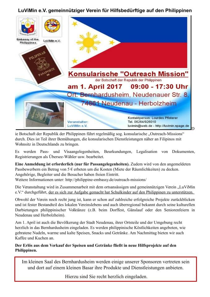 outreach mission philippine embassy berlin