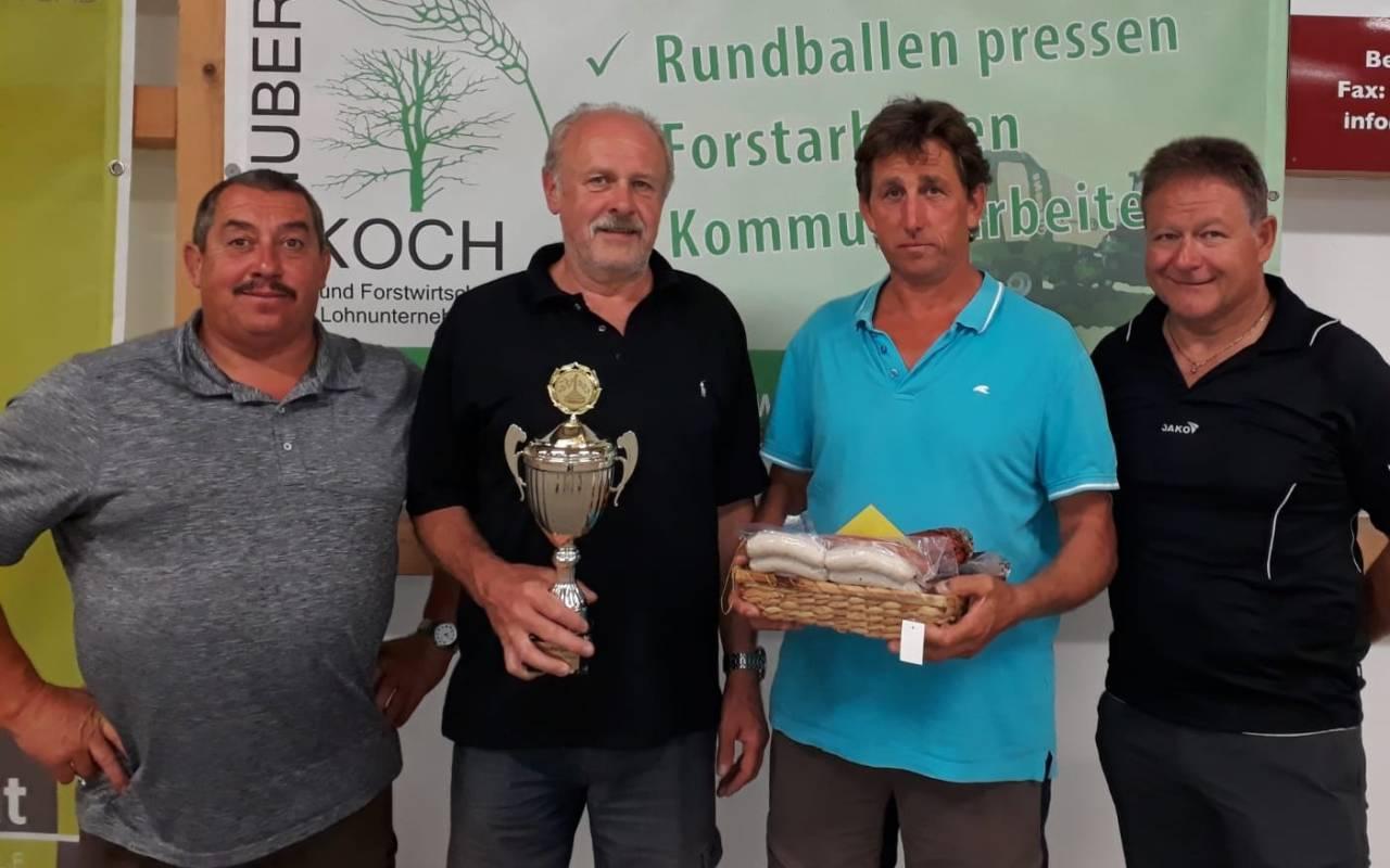 Stammtisch Sonnenhang - v.l. Martin Seiwald, Max Sappel, Albert Nitzinger und Ludwig Hogger